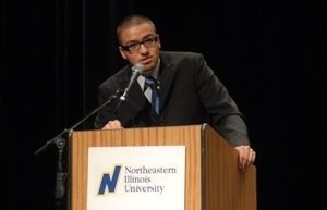 Speaking to undergraduates at Northeastern Illinois University (Summer 2009)